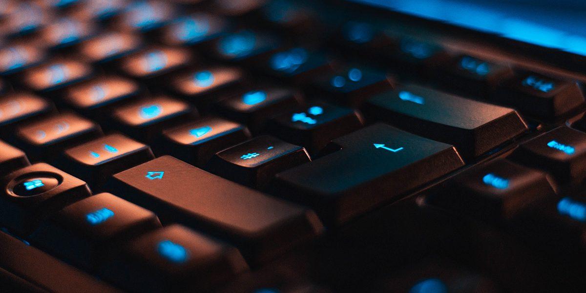 keyboard black blue light